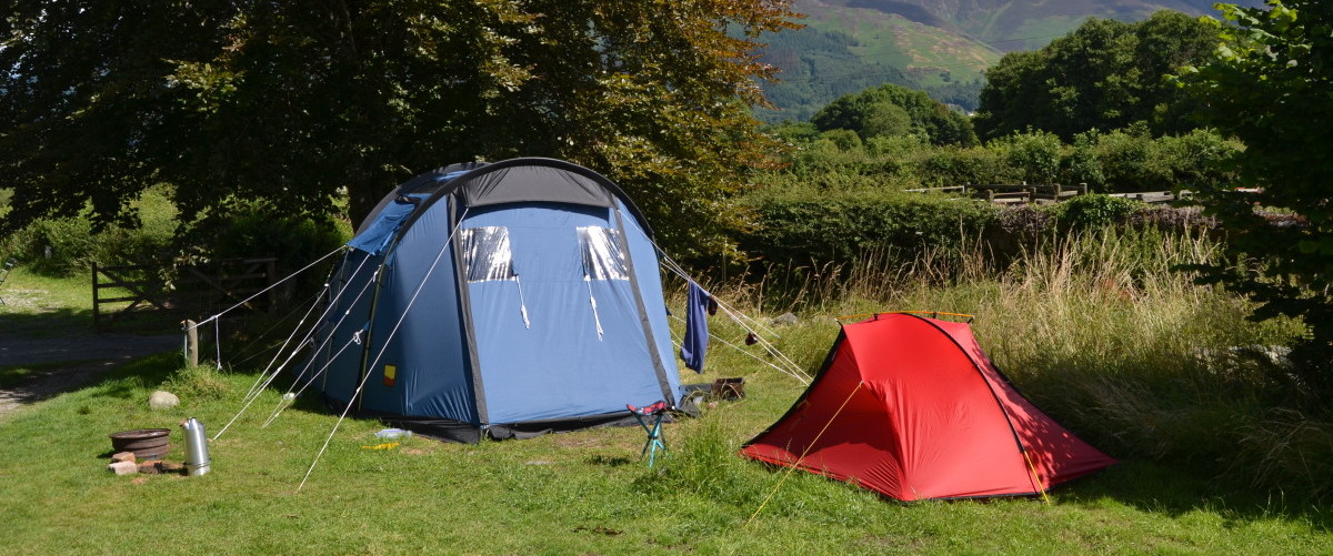 Camping Tents at Lanefoot Farm Campsite
